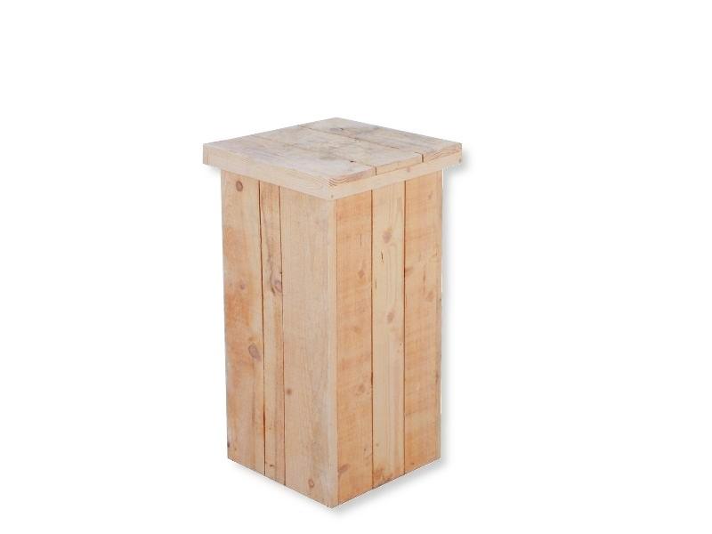 Zuil steigerhout laag