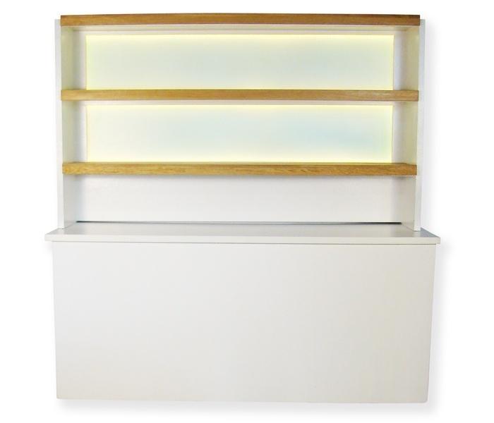 Achterwand LED's Oak 2,1m