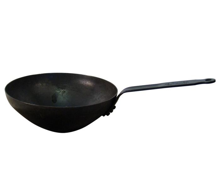 Wokpan met steel 30cm